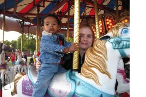 Jackson and Mommy on the Carousel