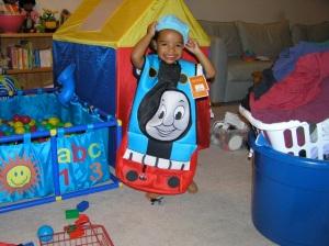Jack as Thomas the Tank Engine