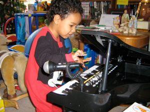 Jack plays piano