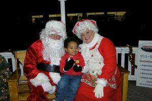 Jack with Santa and Mrs. Claus
