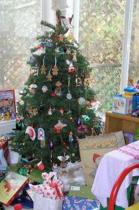 Our Christmas tree with presents