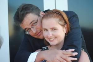 Max hugging Robyn