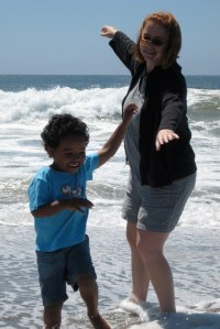 Jack & Mommy in the Pacific Ocean (August 2010)