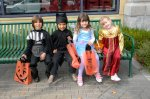 Trick or treating in downtown Walnut Creek