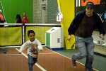 Racing Daddy at the Science Center