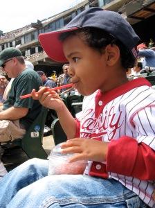 Jack at His First Baseball Game