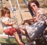 Robyn and Grandma Missestoney swinging