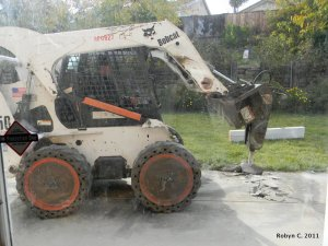 Cement digging