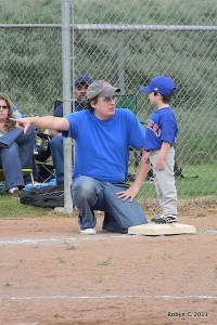 Max as third base coach
