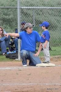 Max as third base coach