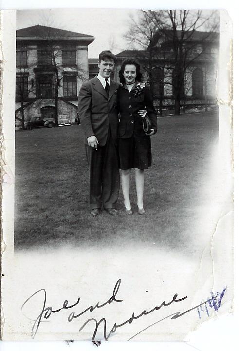 Joe & Norine, Schenley Park, Easter 1942
