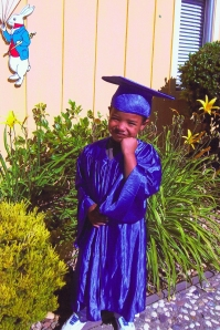 Jackson in Graduation Robes