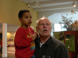 Jackson & Grandpa Bob at the Lindsay Museum