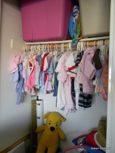 Left Side of the Closet of Clothes