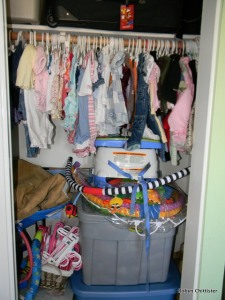 Right Side of the Closet of Clothes
