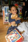 Jackson Hugs His New Lion