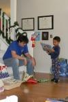 Max Opens His Presents
