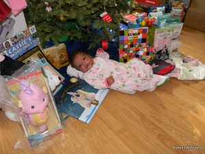 Cassie and Her Gifts Under the Tree