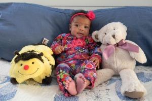 Honey, Cassie, and Cassie's Bear