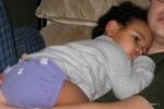 Jackson sleeping on Max