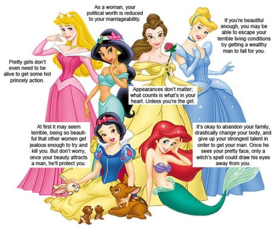Princesses are bad role models