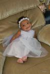 Cassie in her purple dress