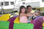 Cassidy and Jackson on the Dragon Roller Coaster