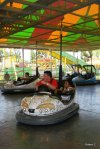 Robert and Jackson on the Bumper Cars