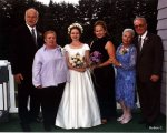 The Bride's Family: Bob, Kathy, Robyn, Ann, Diane, Joe (Images by Meredith Theodore)
