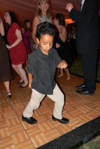 Jackson Dancing at Jessica's Wedding
