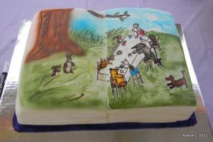 Book Cake by Jen's Custom Cakes