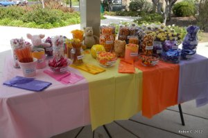 Close up of the sweets table