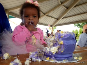 Cassie and the cake ... mmmm