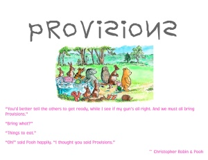 Provisions Table Sign