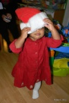 Cassie in Santa Hat
