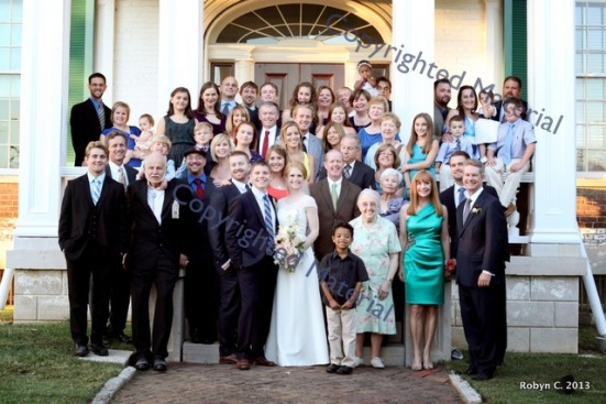 Family at Jessica and Andrew's Wedding