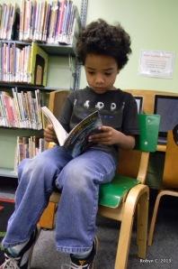 Jackson reading a book