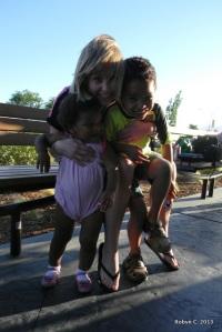 Cassie, Auntie Ann, and Jackson