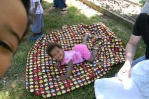 Cassie on a blanket