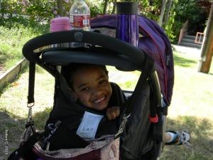 Jackson in Cassie's stroller