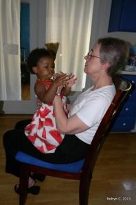 Cassie and Grandma Sandy