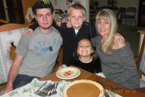The Coy Family: Kevin, Brandon, Karina, and Trina