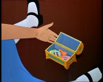 Alice opens a chest full of cakes