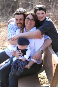 Sarah Baker and her family