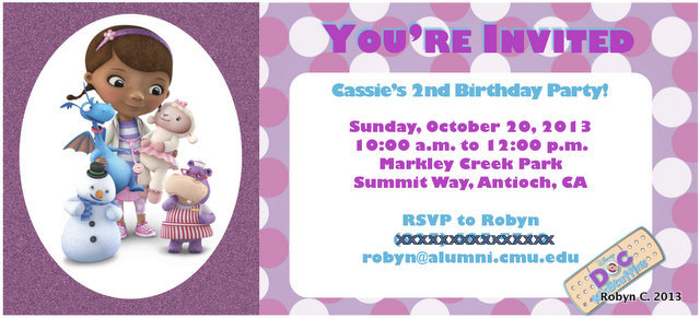 Cassies Doc McStuffins Birthday Party Holding to the Ground