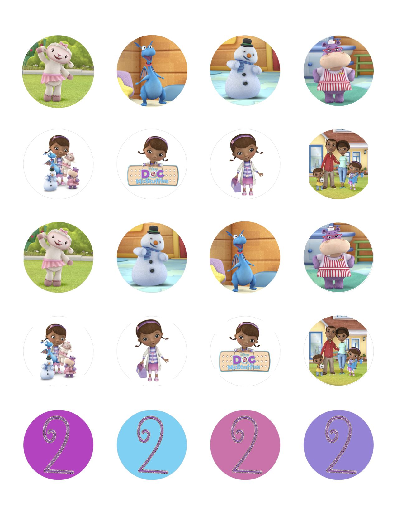 Cassie's Doc McStuffins Birthday Party | Holding to the Ground Doc Mcstuffins Printable Stickers