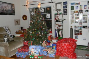 Christmas Eve, tree and presents