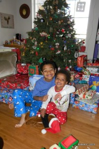 Jackson and Cassie on Christmas Morning