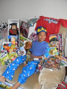 Jackson and all of his presents