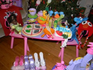 Cassie's new tea party set up